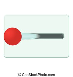 Lever of inclusion icon, cartoon style - Lever of inclusion...
