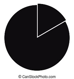 Business pie chart icon, simple style - Business pie chart...