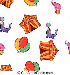 Chapiteau pattern, cartoon style - Chapiteau pattern....