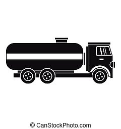 Fuel tanker truck icon, simple style - Fuel tanker truck...