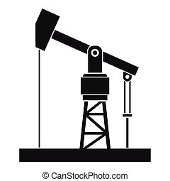 Oil pump icon, simple style - Oil pump icon. Simple...