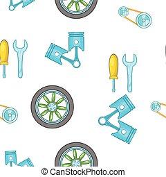 Car repairs pattern, cartoon style - Car repairs pattern....