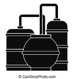 Gas storage tanks icon, simple style