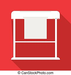 Large format printer icon, flat style - Large format printer...