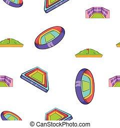 Sport stadium pattern, cartoon style