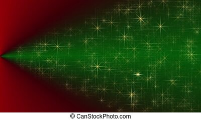 Abstract Christmas background with green Christmas tree....