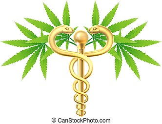 Cannabis Medical Marijuana Caduceus - Medical marijuana...