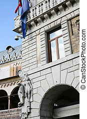 decoration of palace on Piazza delle Erbe, Padua - travel to...