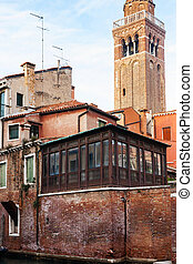 old residential houses in Venice city