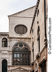 old palace in Venice town - travel to Italy - old palace in...