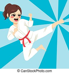 Karate Girl Action