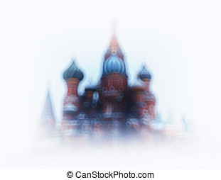 Saint Basil's Cathedral bokeh background hd