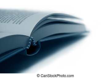 Open Book close-up, shallow depth of field, isolated