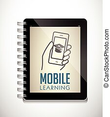 Tablet as electronic book - concept