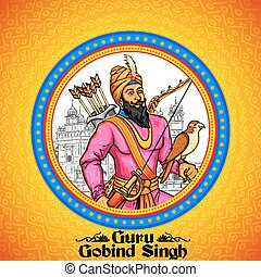 Happy Guru Gobind Singh Jayanti festival for Sikh...