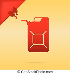 Jerrycan oil sign. Jerry can oil sign. Cristmas design red...