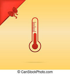 Meteo diagnostic technology thermometer sign. Cristmas...