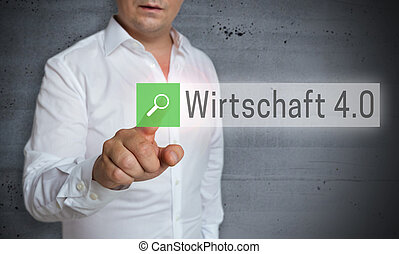 Wirtschaft 4.0 (in german Business 4.0) browser is operated...