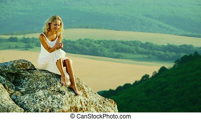 Girl on the background of nature
