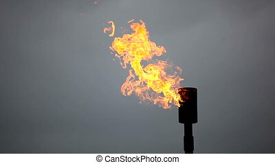 combustion of natural gas