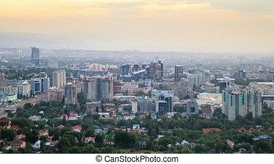 In the city the night. Almaty, Kazakhstan . UltraHD (4K)