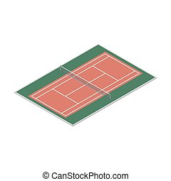 Field for the game of tennis, vector illustration. - Field...