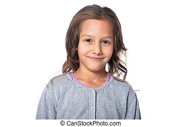 Smiling little girl - Portrait of cute smiling little girl...