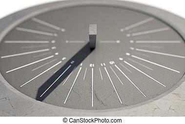 Modern Sundial - A 3D render of a sleek modern sundial clock...