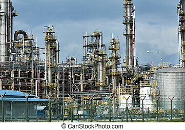 Oil refinery industry building in Malaysia, Asia