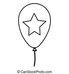 Isolated party balloon design - Balloon icon. Party...