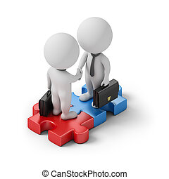 isometric people - deal - Isometric business people standing...