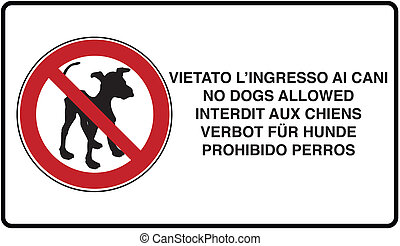 no dog allowed - graphic illustration of the road signage no...