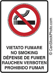 no smoking - graphic illustration of the road signage no...