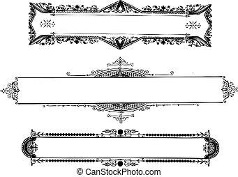 Vector Vintage Ornate Frames - Vector ornate frame set. Easy...