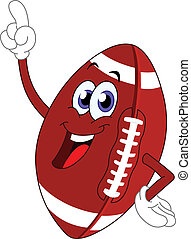 Football - Cartoon American football pointing with his...