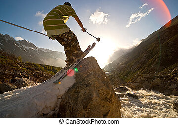 Freerider in Caucasus Mountains, Elbrus, summer 2010