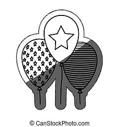 Isolated party balloon design - Balloon icon. Party...