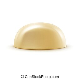White Milk Chocolate Candy Isolated on Background - Vector...
