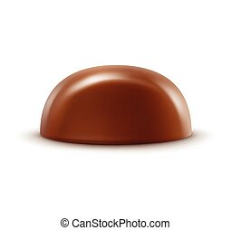 Milk Chocolate Candy Isolated on Background - Vector...
