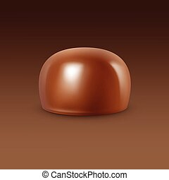 Vector Realistic Milk Chocolate Candy Isolated Background