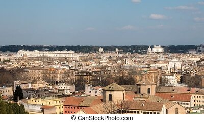 The shadows of the city, Rome, Italy. Time Lapse. UltraHD...