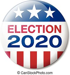 Badge USA Election 2020 - Vector illustration of a badge...