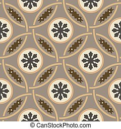 Hydraulic vintage cement tiles - Byzantine seamless pattern...