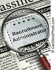 We're Hiring Recruitment Administrator. 3D. - Recruitment...