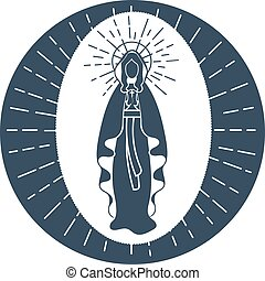Immaculate Conception of the Virgin Mary - Greeting card....