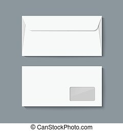 Envelope mock up. Realistic vector illustration template for...