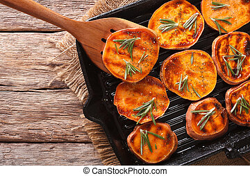 Simple Food: Grilled sweet potatoes with rosemary on the...