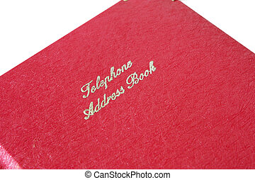 address book - a pink phone book for keeping phone numbers