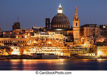 La Valetta - Malta - Landscape of la Valetta in Malta at...