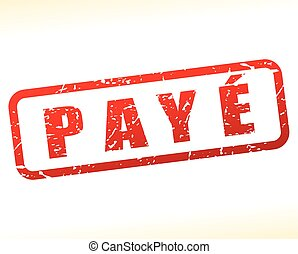 paid buffered on white background - Illustration of paid...